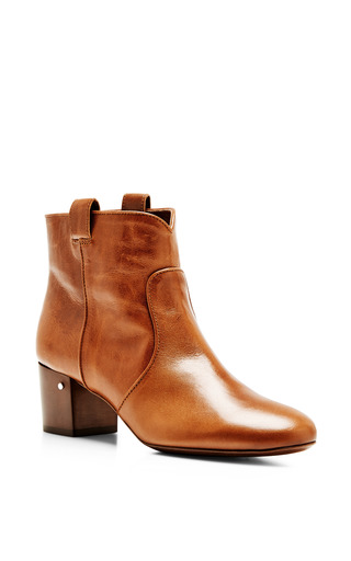 Medium laurence dacade brown belen bootie in vintage calf