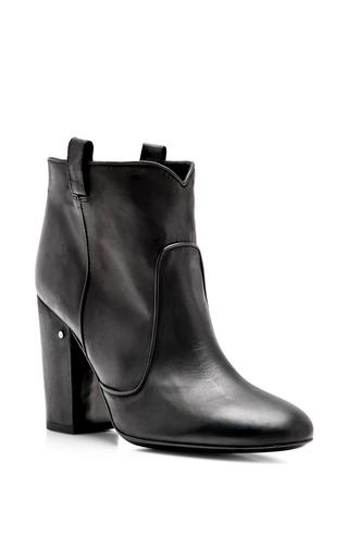 Medium laurence dacade black pete boot in black matt calf
