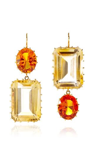 Medium renee lewis orange bright and pale citrine earrings