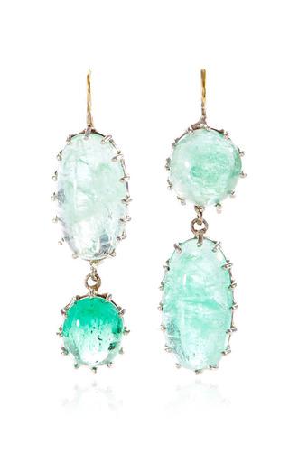 Medium renee lewis green oval emerald earrings