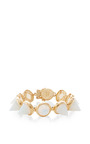 Rose Gold Plated Glass Opal Cone Bracelet by EDDIE BORGO Now Available on Moda Operandi