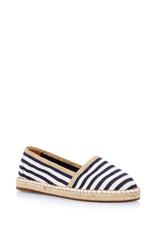 Medium escadrille blue les havraises in blue and white thin striped canvas