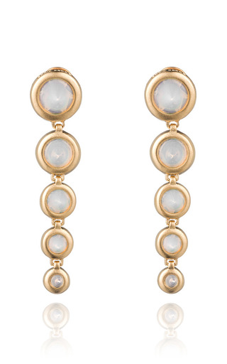 Medium eddie borgo yellow graduated gemstone cone drop earring 2