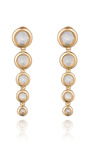 Gold Plated Glass Opal Drop Earrings by EDDIE BORGO Now Available on Moda Operandi