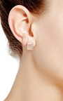 Rose Gold Plated And Agate Cube Stud Earrings by EDDIE BORGO Now Available on Moda Operandi