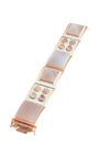 Rose Gold Plated Enamel And Agate Bracelet by EDDIE BORGO Now Available on Moda Operandi