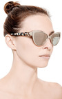 Capri Mirrored Cat Eye Sunglasses by PRISM Now Available on Moda Operandi