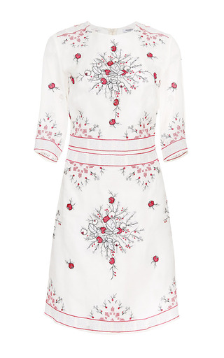 Bella Embroidered Organza Tunic Dress by VILSHENKO for Preorder on Moda Operandi