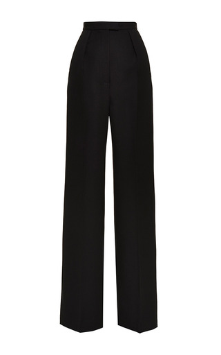 Medium vilshenko black lydia black wide leg wool pant