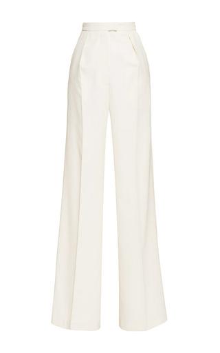 Medium vilshenko off white lydia cream wide leg wool pant