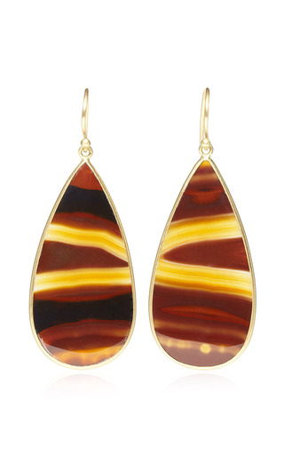 Medium kothari brown one of a kind brazilian agate earrings