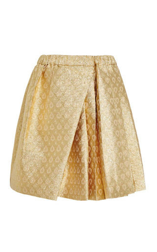 Medium no 21 gold speranza skirt in gold brocade