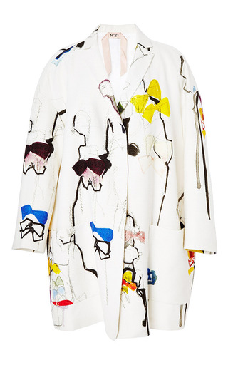 Medium no 21 print gianna trench coat