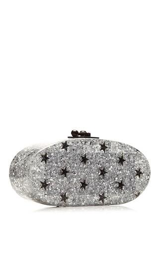 Edie Stars Glitter Acrylic Clutch by EDIE PARKER Now Available on Moda Operandi