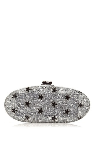 Edie Stars Glitter Acrylic Clutch by EDIE PARKER Now Available on Moda Operandi