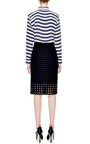 Cotton Eyelet Skirt In Navy by SEA Now Available on Moda Operandi