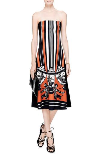 Athenian Vase Printed Neoprene Dress by CLOVER CANYON Now Available on Moda Operandi