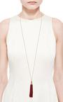 Small Silk Tassel Necklace by EDDIE BORGO Now Available on Moda Operandi