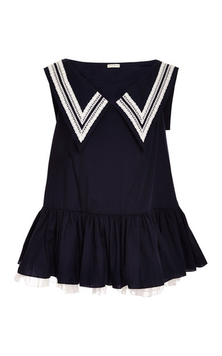 Medium natasha zinko blue navy blue dress with navy collar