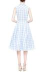 Light Blue Checked Dress by NATASHA ZINKO for Preorder on Moda Operandi