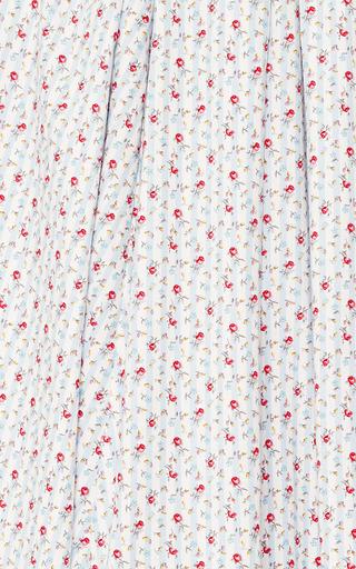 Midi Cotton Striped With Florals Skirt by NATASHA ZINKO Now Available on Moda Operandi