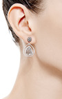One Of A Kind Swinging Diamond Slice Earrings by SUSAN FOSTER for Preorder on Moda Operandi