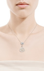 One Of A Kind Gray Double Drop Necklace by SUSAN FOSTER for Preorder on Moda Operandi