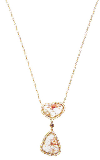 One Of A Kind Double Drop Necklace by SUSAN FOSTER for Preorder on Moda Operandi