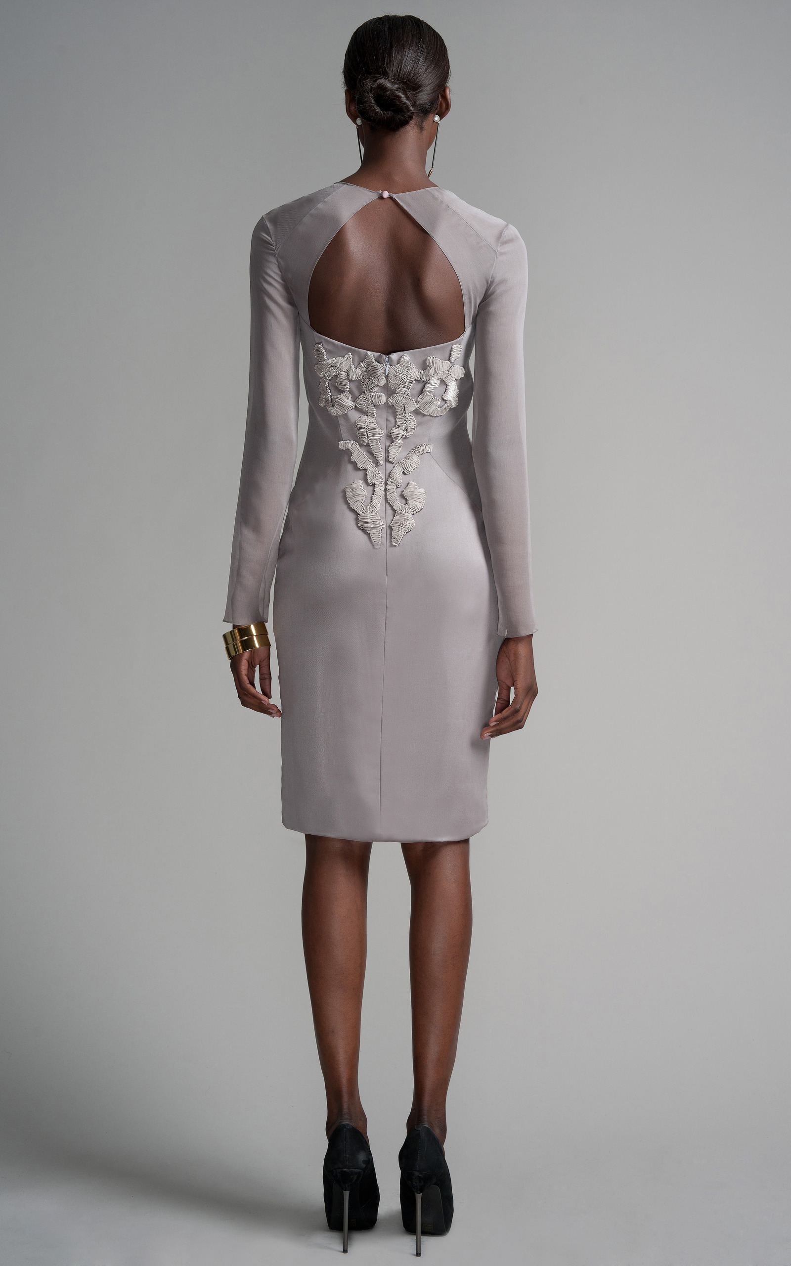 83daa1c40ee Ribbon Embroidery Cocktail Dress by Bibhu Mohapatra