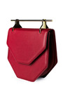 Amor Fati Leather Shoulder Bag In Red by M2MALLETIER Now Available on Moda Operandi