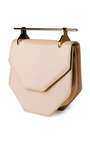 Amor Fati Leather Shoulder Bag In Sand by M2MALLETIER Now Available on Moda Operandi