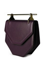 Amor Fati Leather Shoulder Bag In Violet by M2MALLETIER Now Available on Moda Operandi
