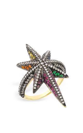 Medium venyx gold multi stone venyx star ring