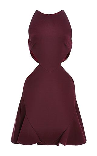 Medium cushnie et ochs burgundy power viscose dress 2