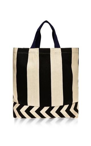 Medium vanities multi stripe zig zag tote bag
