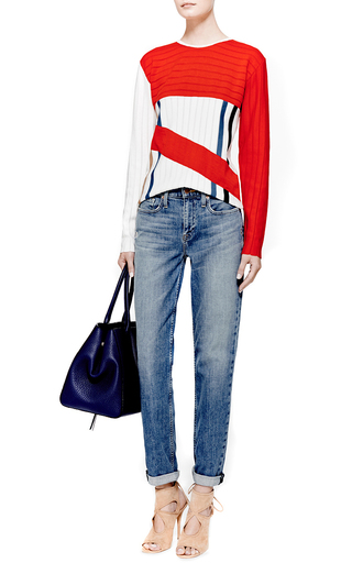 Paneled Wool Knit Sweater by J.W. ANDERSON Now Available on Moda Operandi