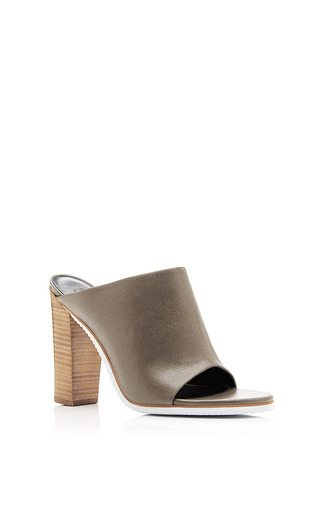 Medium tibi dark grey open toe high heel mule 2