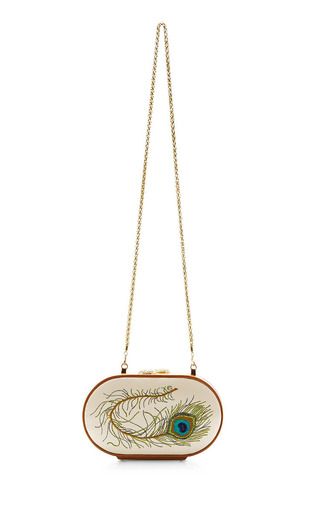 Embroidered Silk Clutch by KATRIN LANGER Now Available on Moda Operandi