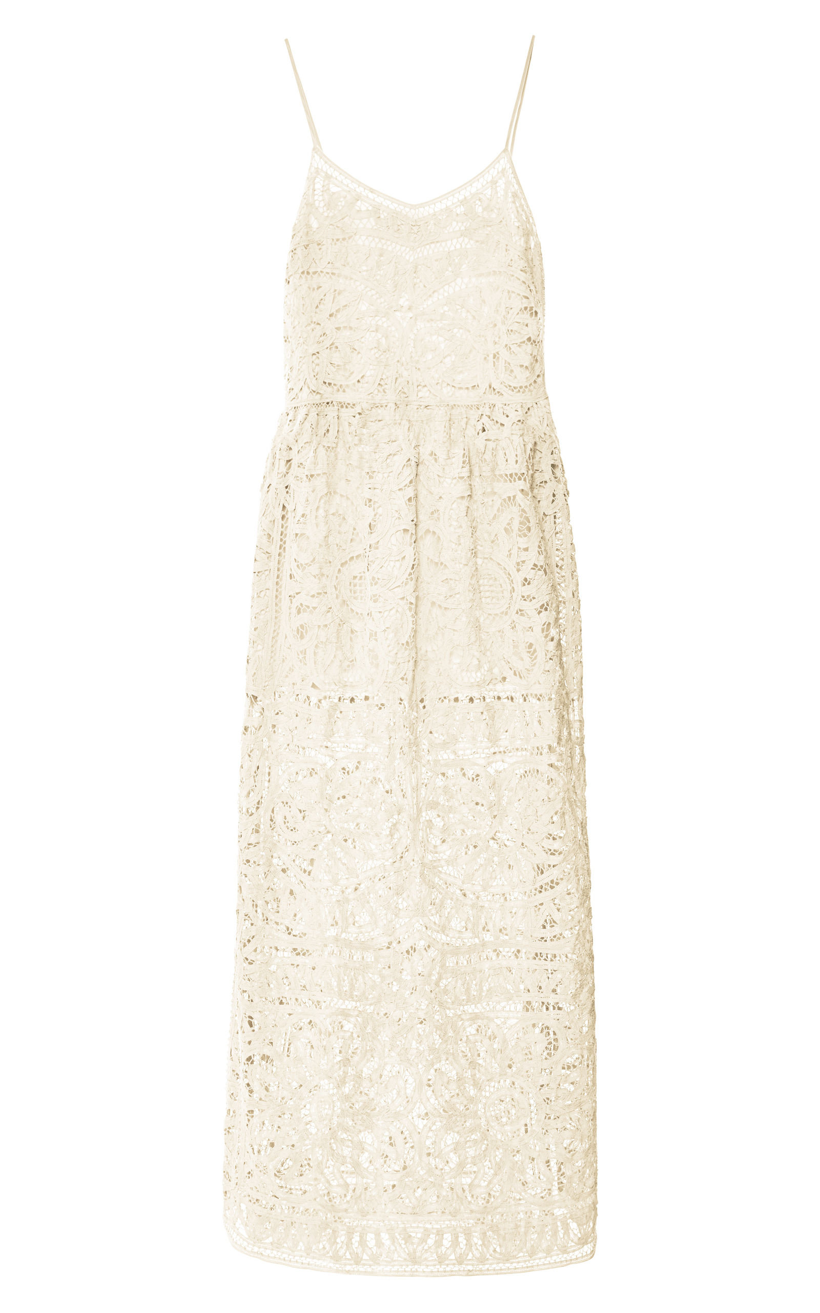 Battenburg Lace Maxi Tank Dress