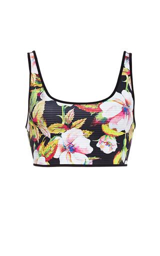 Medium clover canyon multi botanical wave reversible bikini top