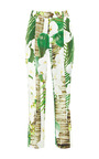Orchids Linen Pants by AGUA DE COCO for Preorder on Moda Operandi