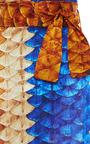 Scale Satin Midi Skirt by AGUA DE COCO for Preorder on Moda Operandi