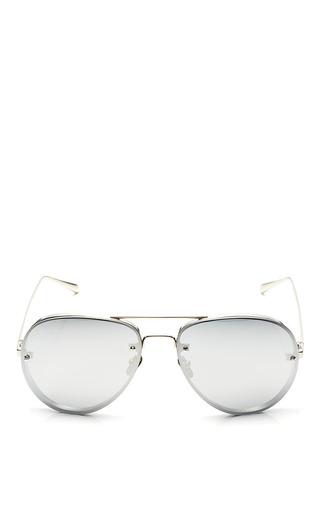 Medium linda farrow silver linda farrow white gold with platinium lense sunglasses