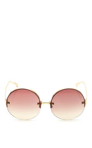 Medium linda farrow gold linda farrow gold with brown grad lens sunglasses