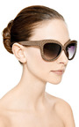 Python Cat Eye Sunglasses by LINDA FARROW Now Available on Moda Operandi