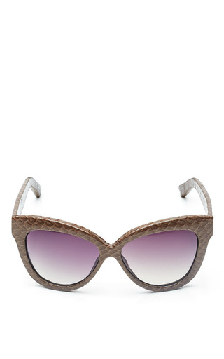 Medium linda farrow brown linda farrow mocha snake sunglasses