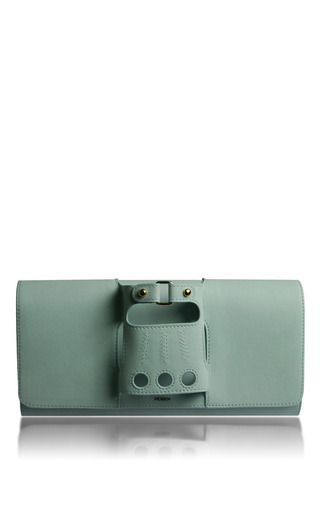 Medium perrin blue perrin paris lagoon glove clutch