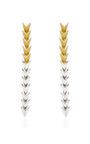Silver Plated Enamel Scaled Earrings by EDDIE BORGO Now Available on Moda Operandi