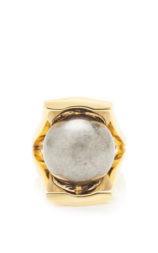 Medium lele sadoughi silver pinball ring 2