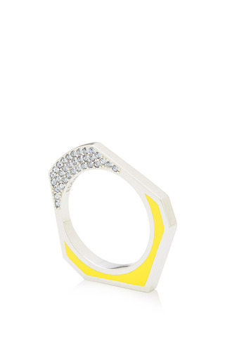 Taureg Silver Plated And Crystal Ring by EDDIE BORGO Now Available on Moda Operandi